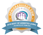 SeniorAdvisor.com 2016 Best of Assisted Living as rated by families
