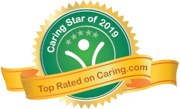 Caring Star Badge 2019 - Top Rated on Caring.com