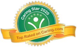 Caring Star Badge 2020 - Top Rated on Caring.com
