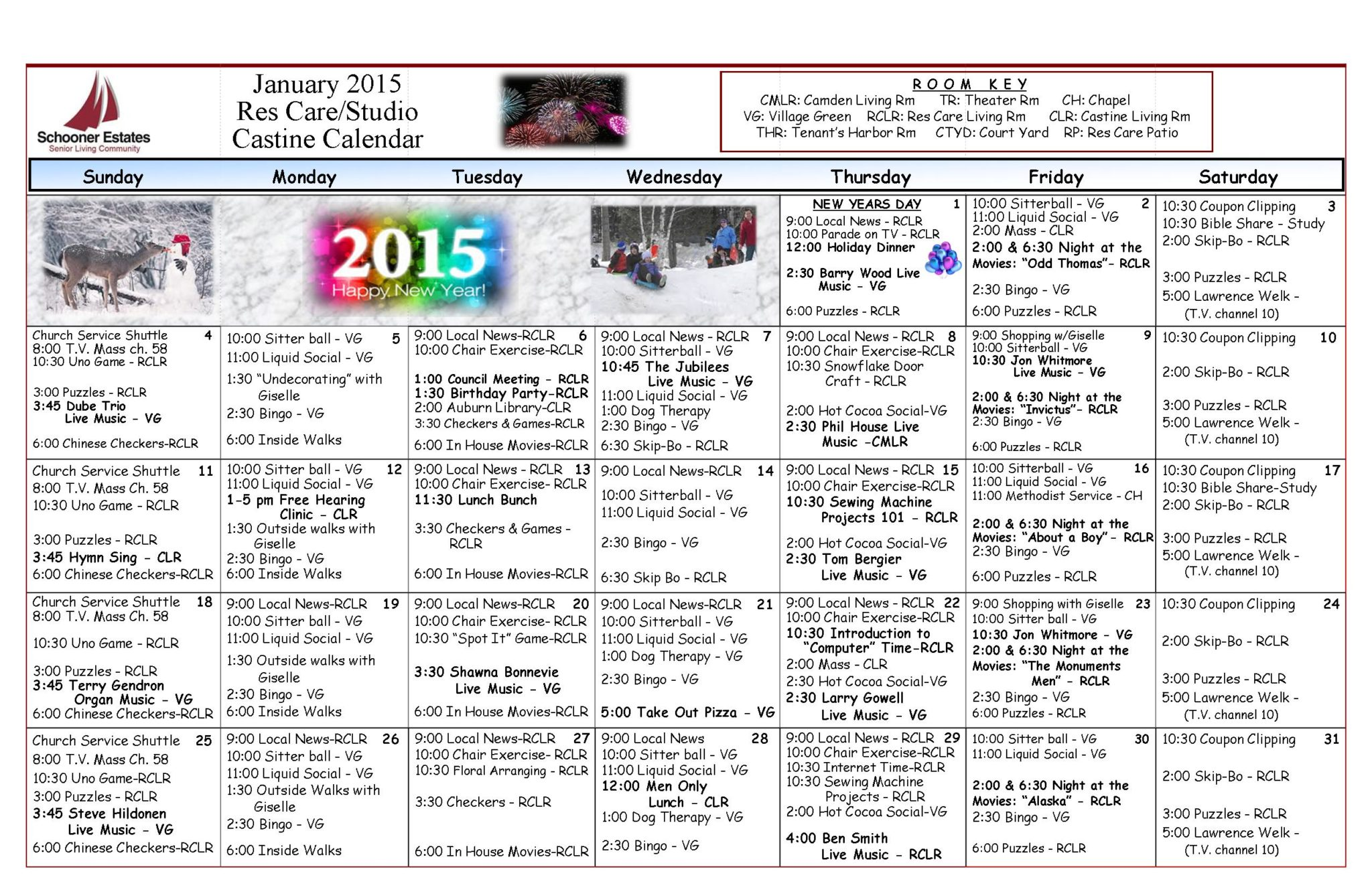 01 Res Care January Calendar 2015