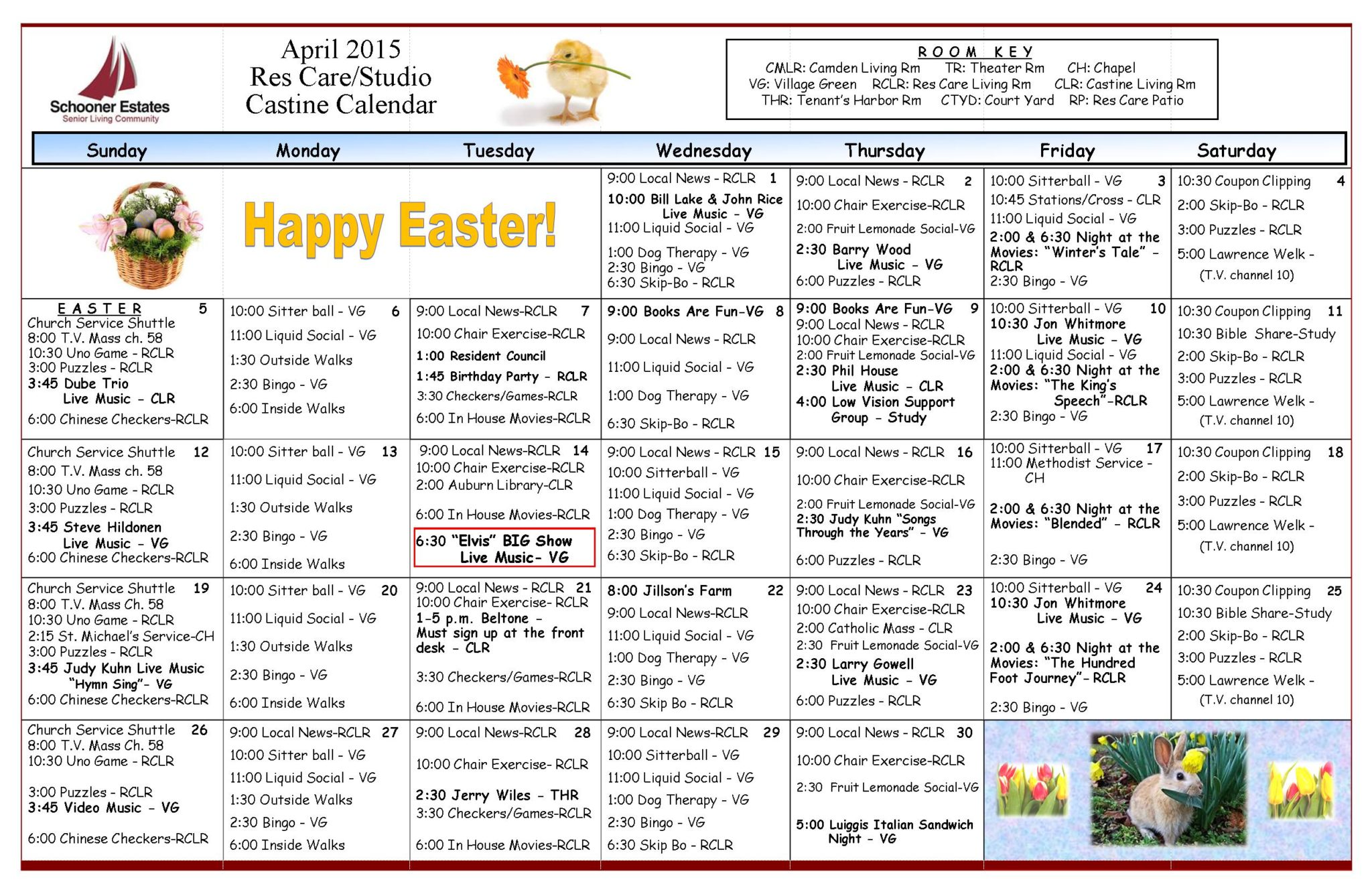 04 Res Care April Calendar 2015