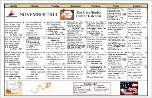 11 November 2013 Res Care Calendar