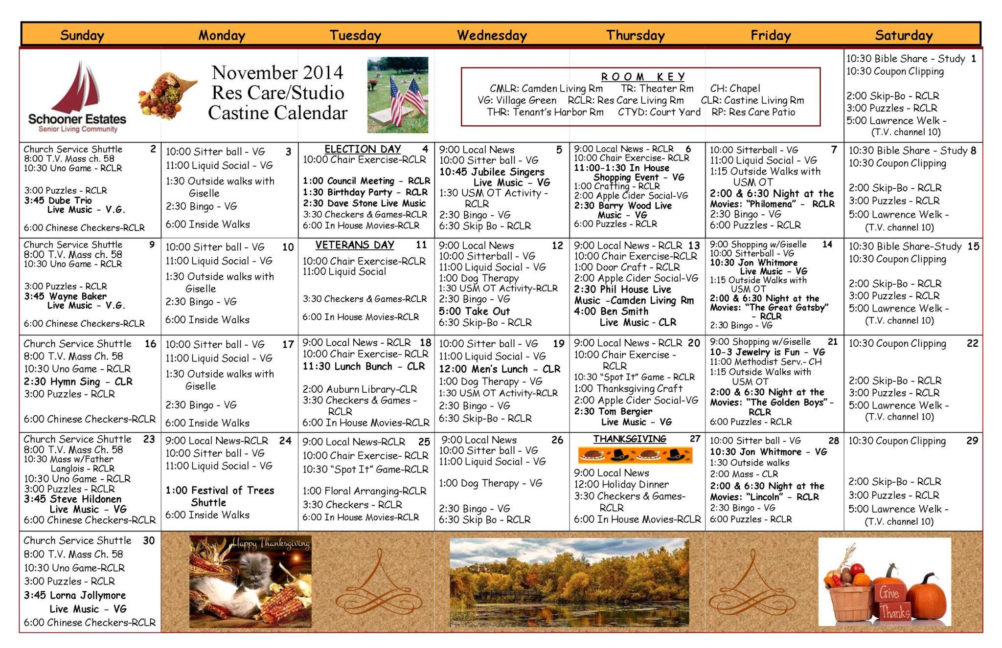 11 Res Care November Calendar 2014