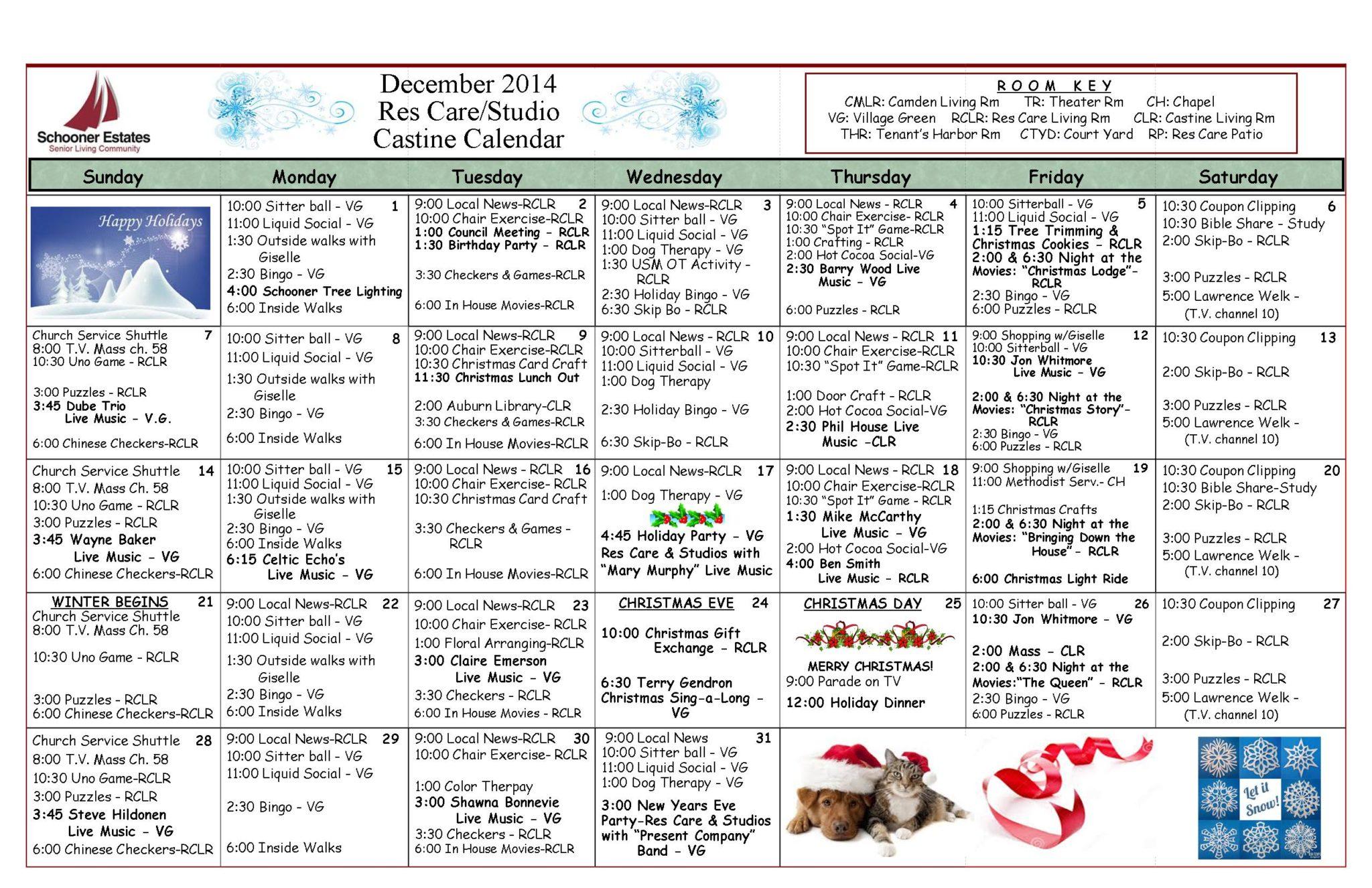 12 Res Care December Calendar 2014