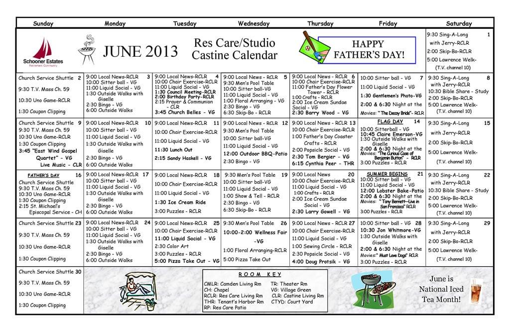 Calendar Ideas For June : June calendars of events