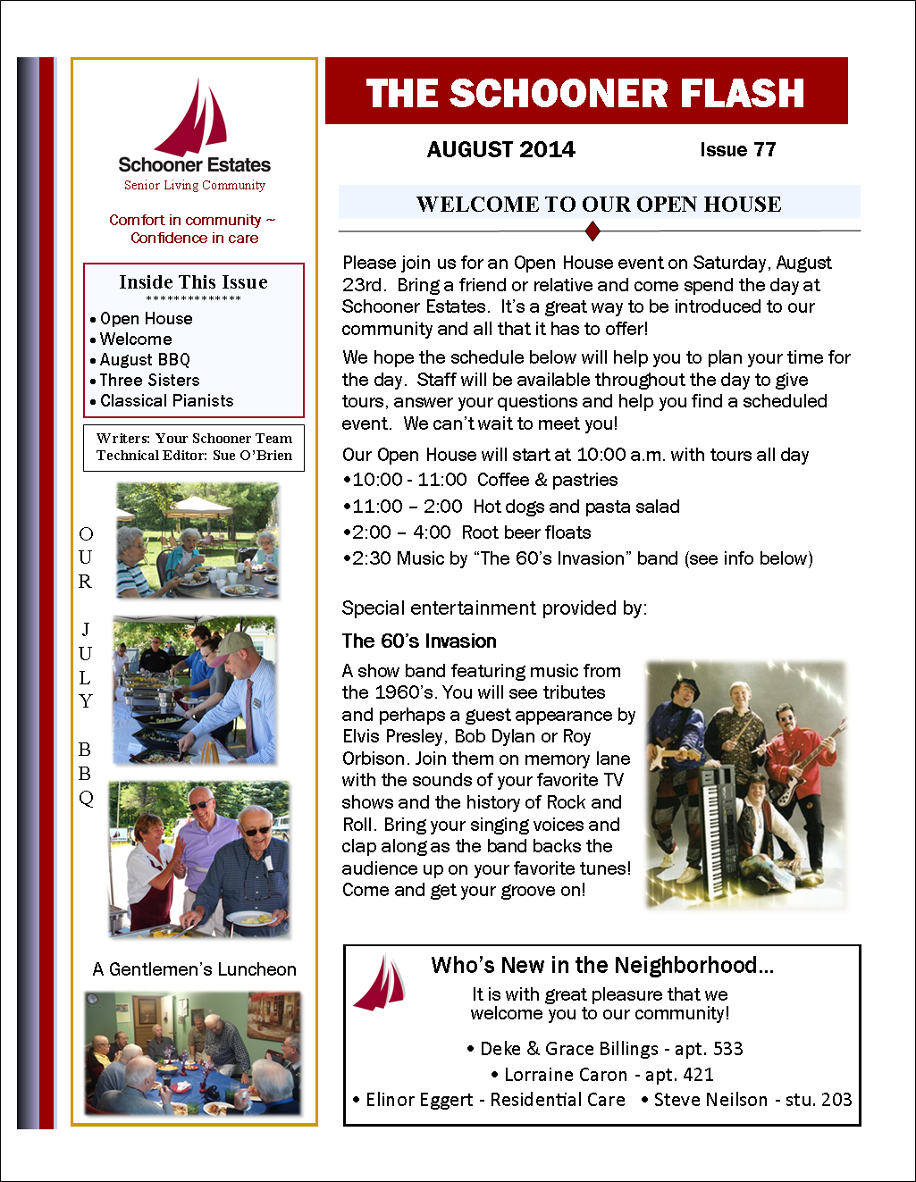 August 2014 Flash Newsletter Page 1