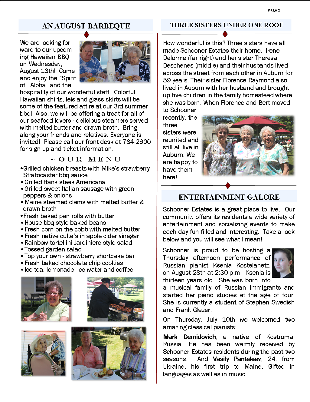 August 2014 Flash Newsletter Page 2