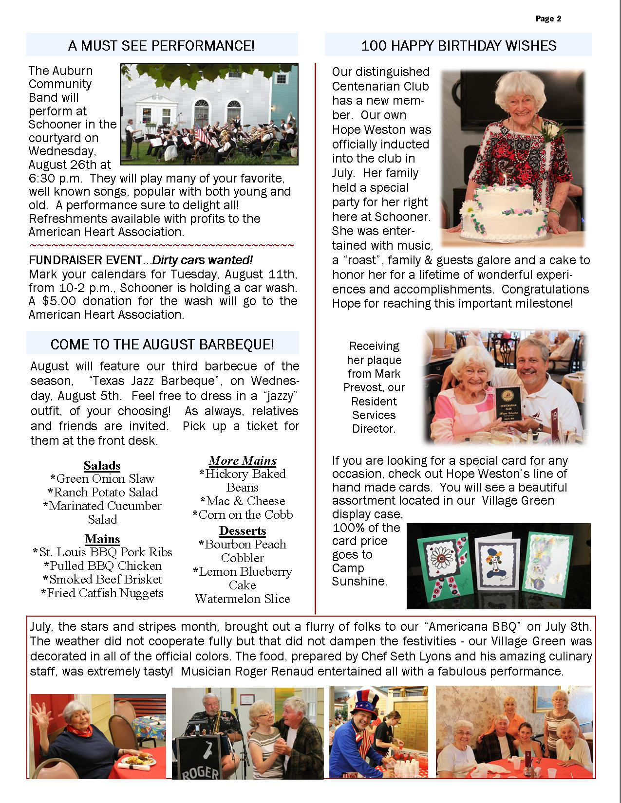 August 2015 Newsletter Page 2