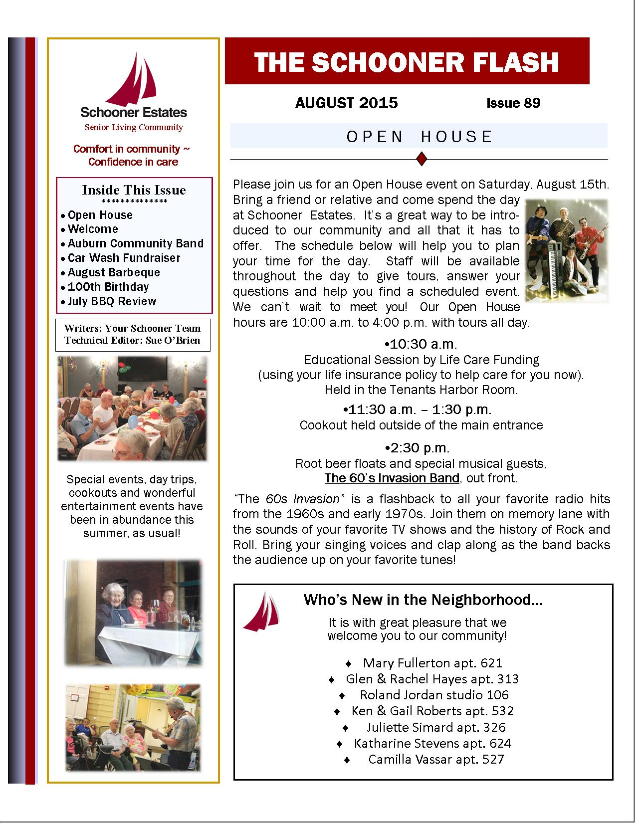 August 2015 Newsletter Page 1