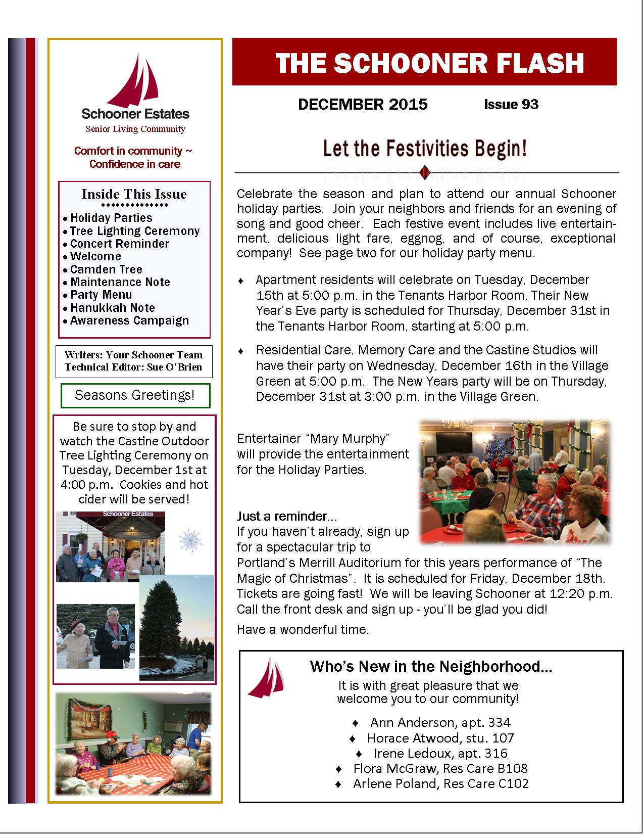 December 2015 Schooner Flash Newsletter1