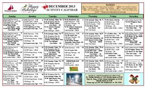 December Camden Calendar
