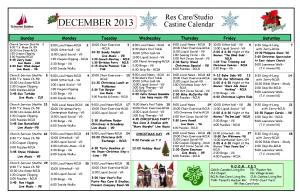 December Castine Calendar