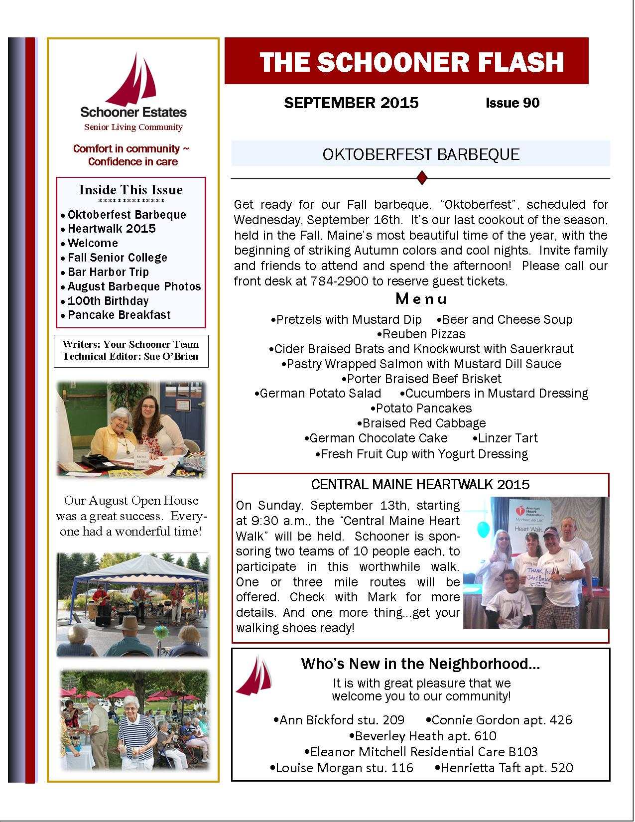 September 2015 Flash Newsletter Page 1