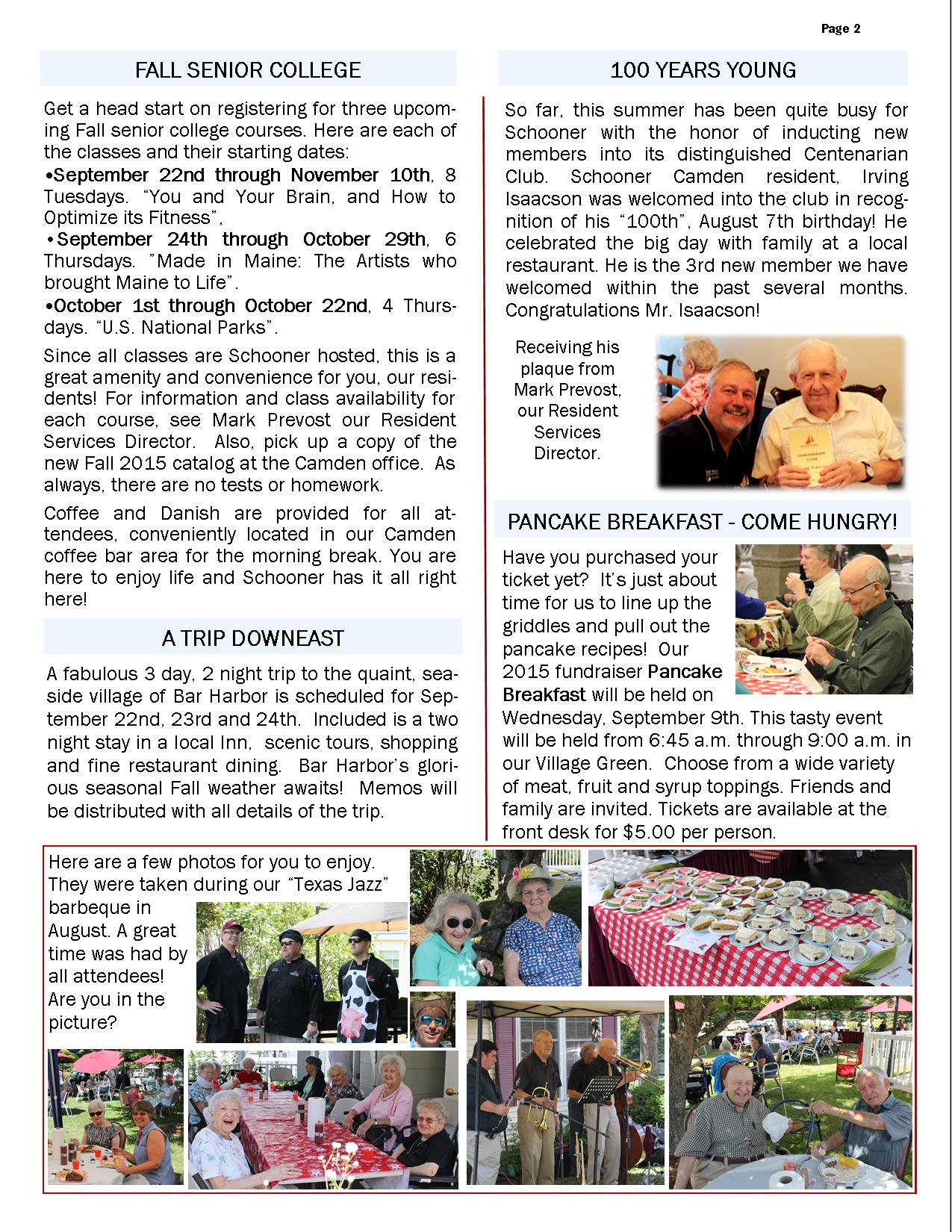 September 2015 Flash Newsletter Page 2