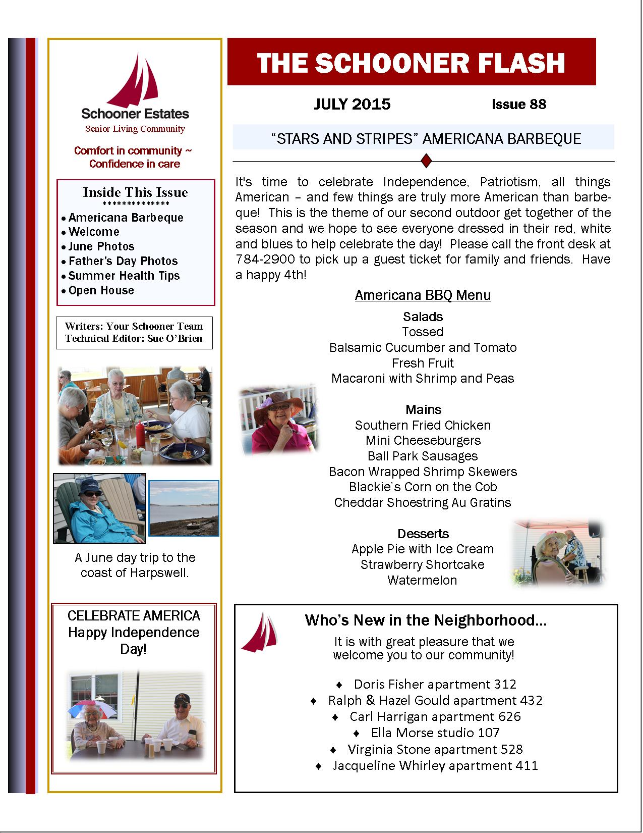 Flash Newsletter July 2015 Page 1