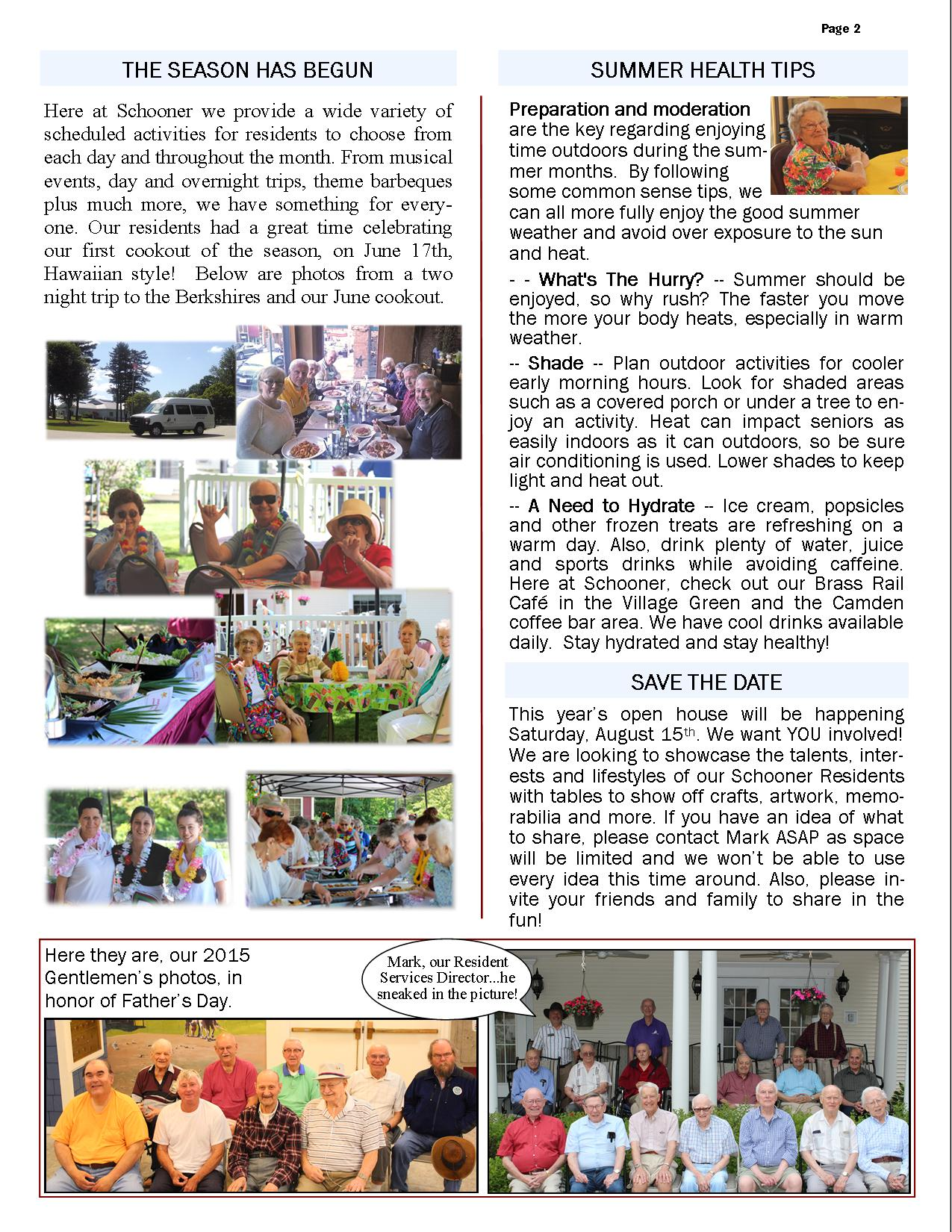 Flash Newsletter July 2015 Page 2