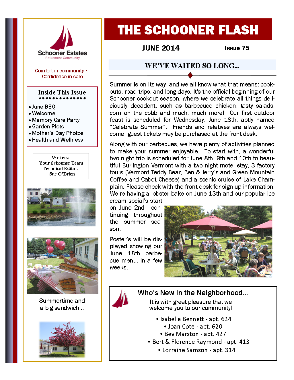 June 2014 Flash Newsletter Page 1