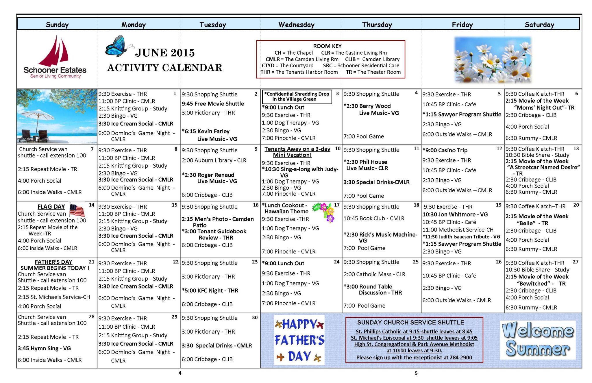 June 2015 Independent Living Activity Calendar