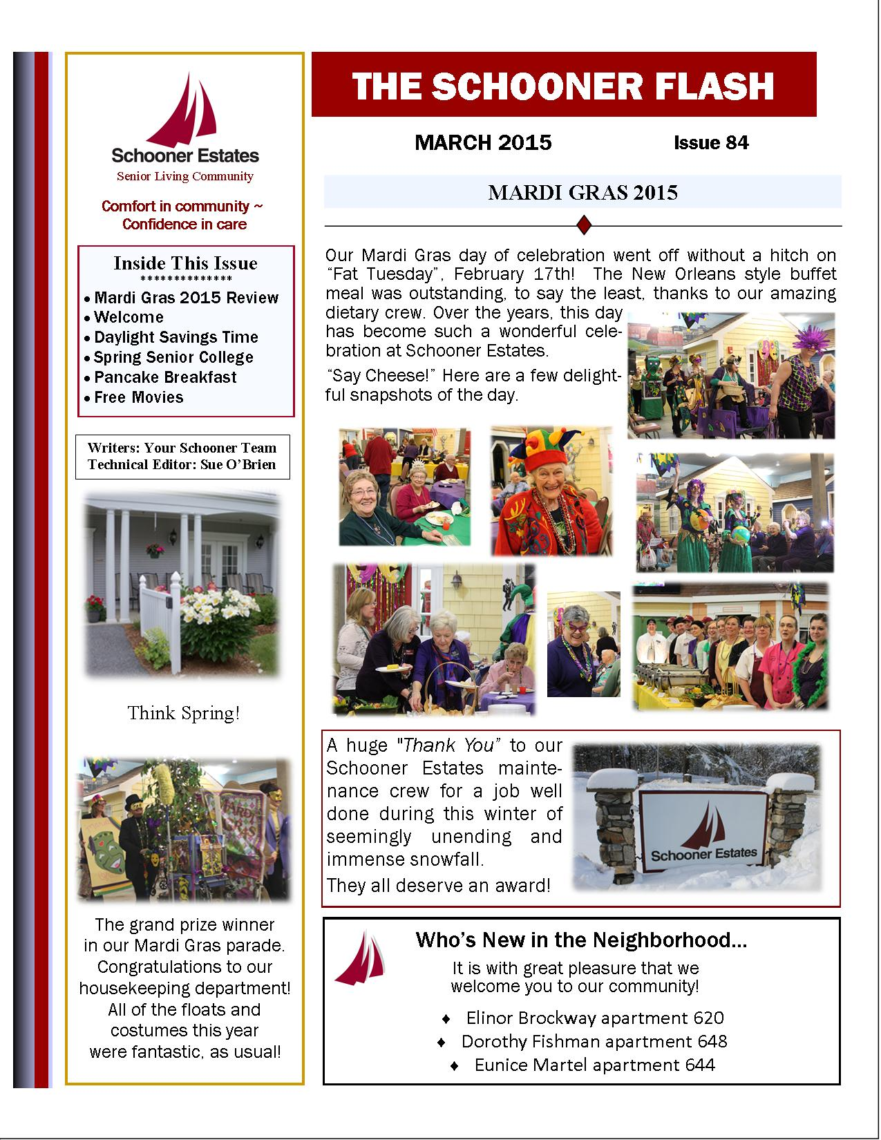 March 2015 Newsletter1