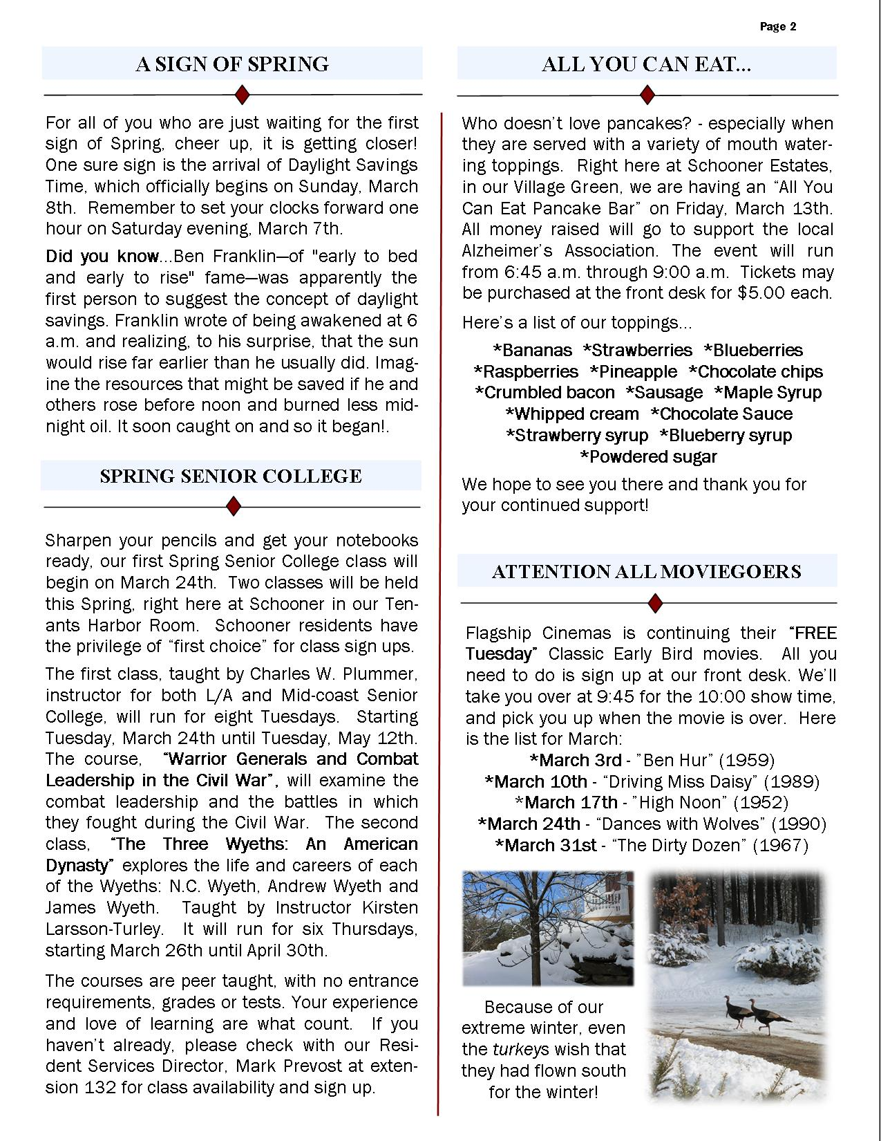 March 2015 Newsletter2