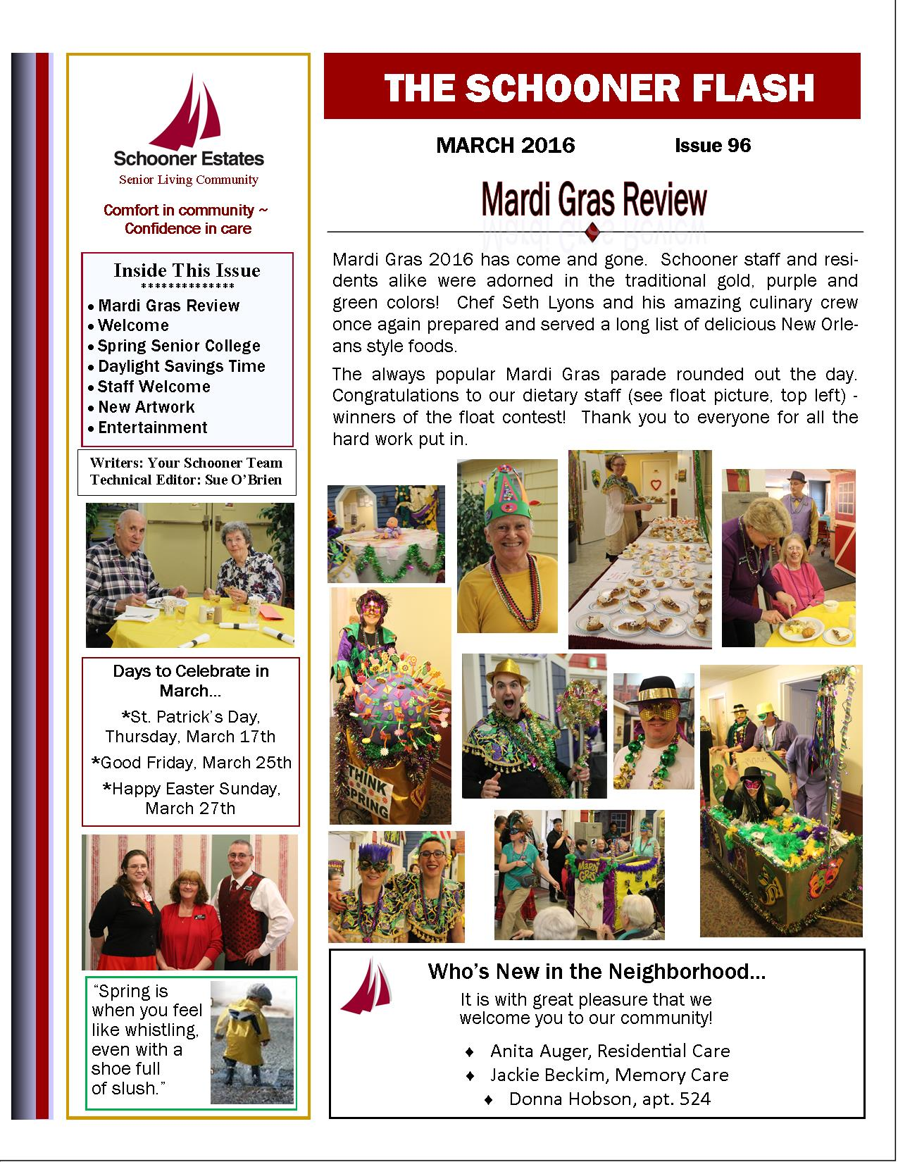 March 2016 Newsletter-Page1