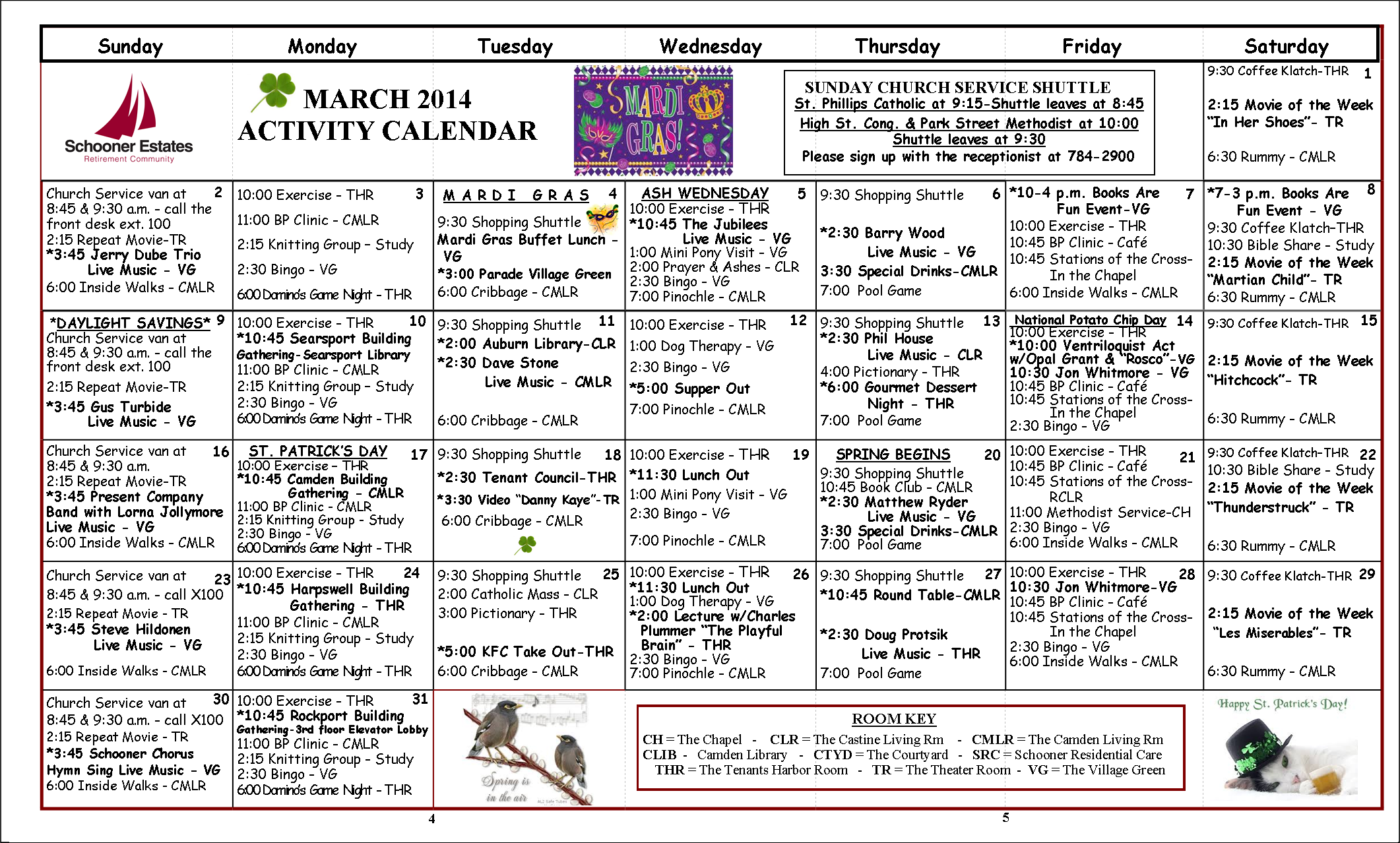 March Calendar Ideas : Activity calendar march