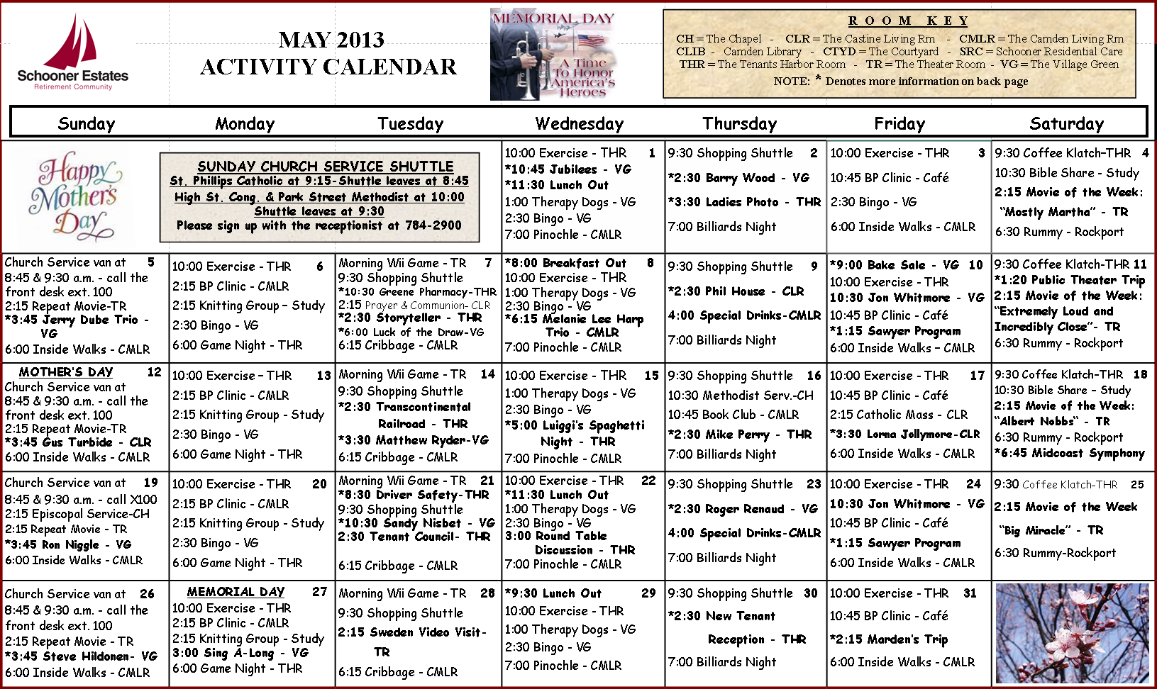 May Calendar Of Events : May calendar of events