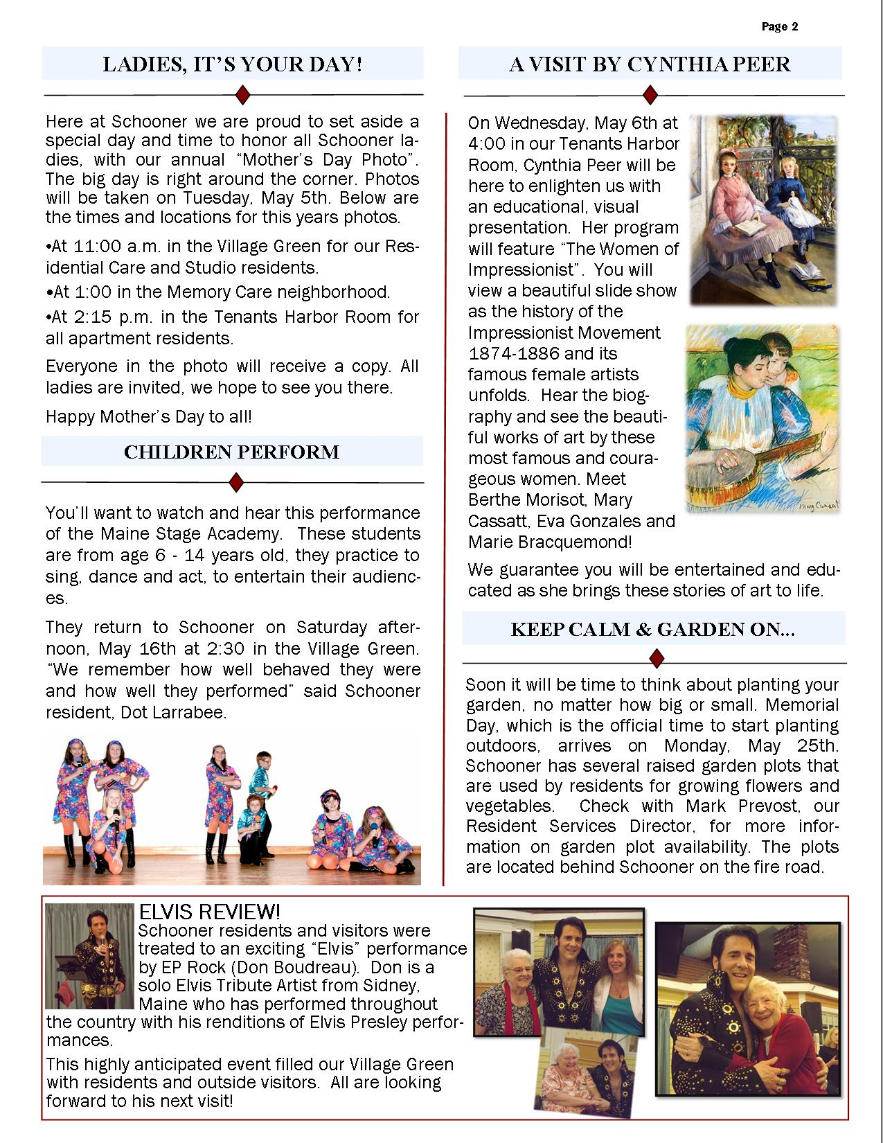 May 2015 Newsletter 2