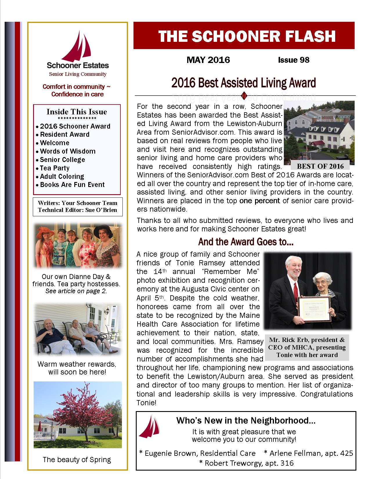 May 2016 Schooner Flash Newsletter
