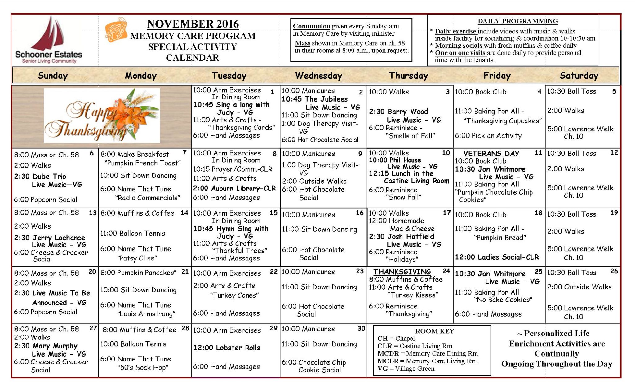 November Calendar Ideas : November activity calendars