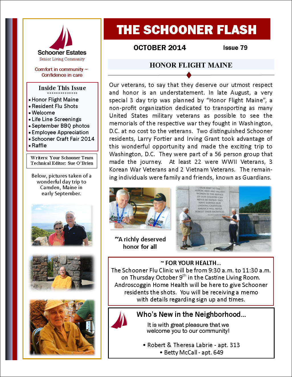 October 2014 Schooner Flash Newsletter Page 1