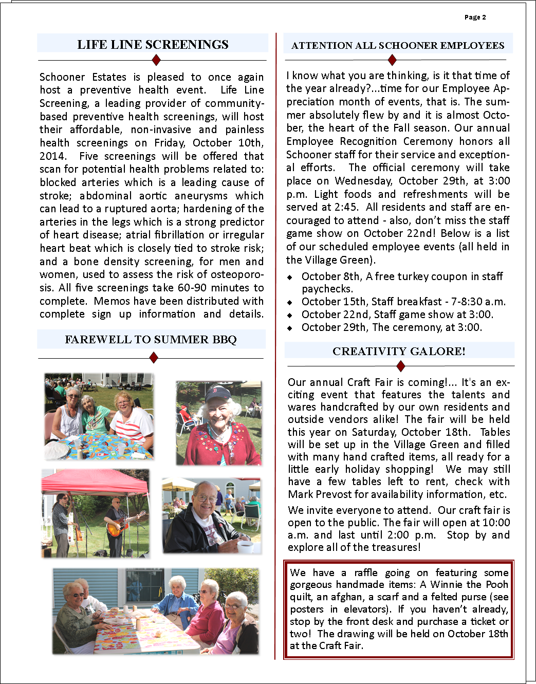 October 2014 Schooner Flash Newsletter Page 2