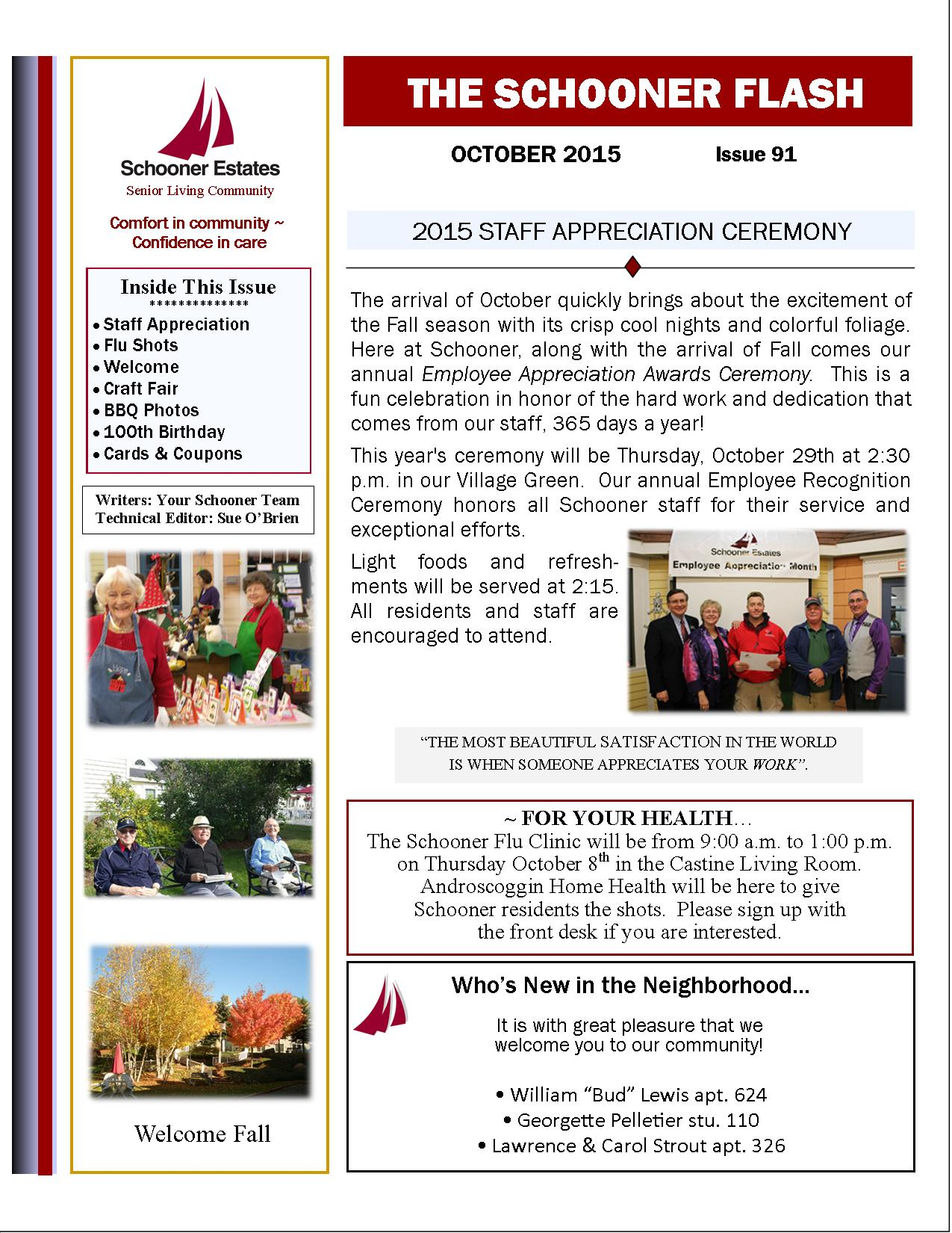 October 2015 Flash Newsletter Page 1