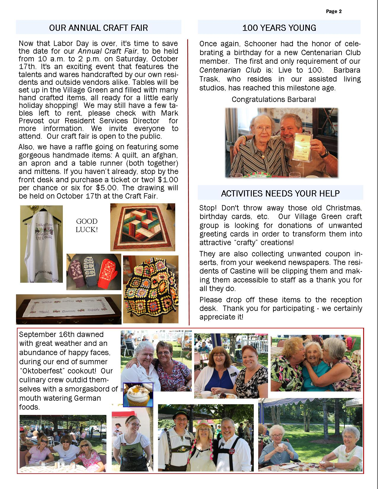 October 2015 Flash Newsletter Page 2