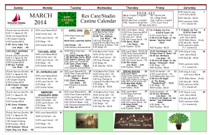 Res Care Calendar March 2014