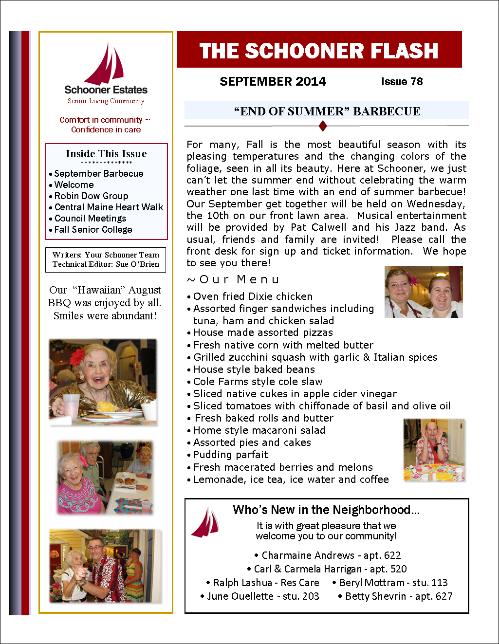 September 2014 Schooner Flash page 1