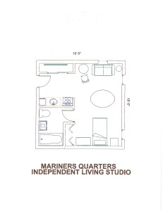 Independent Senior Living Apartment Floor Plan for Mariners Quarters